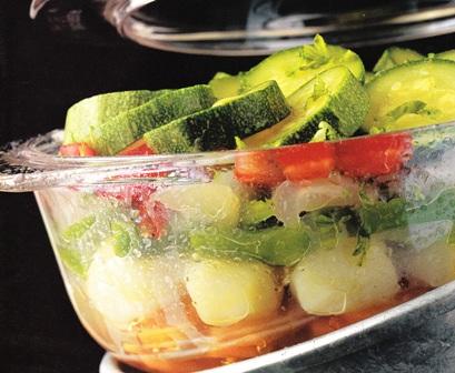 Verduras al vapor con pollo asado recetas de cocina facil - Cocinar al microondas ...