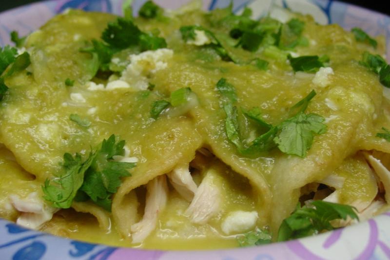 Enchiladas verdes con pollo – recetas de cocina facil